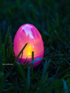 Glow in the Dark Easter Egg Hunt - This is a fun idea for an Easter egg hunt! Use DIY glow in the dark eggs and put them out in the dark for kids on Easter!