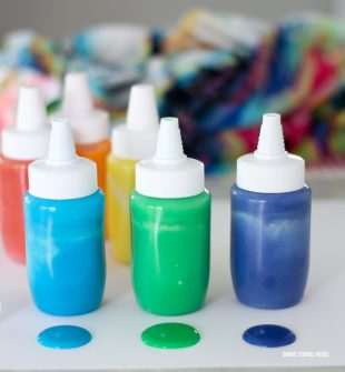 How to Make Homemade Paint - Never buy paint again for kids! 3 ingredient DIY homemade paint recipe. Salt, flour, and water.