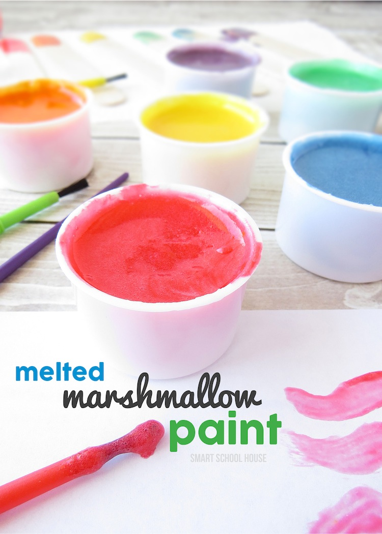 Edible paint made with marshmallows.