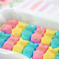 Layered Peeps Cookie Bars