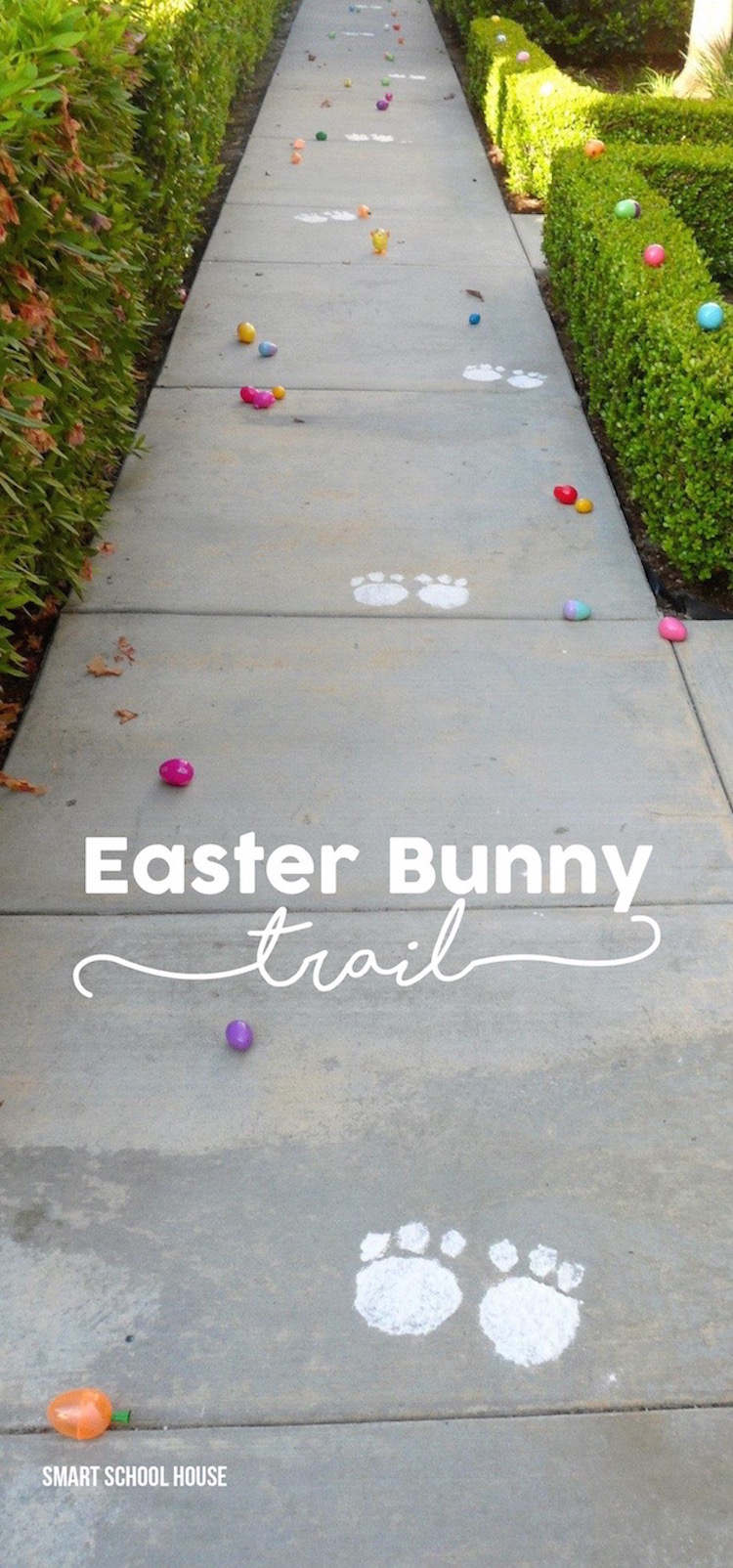 Easter Bunny Footprint Trail