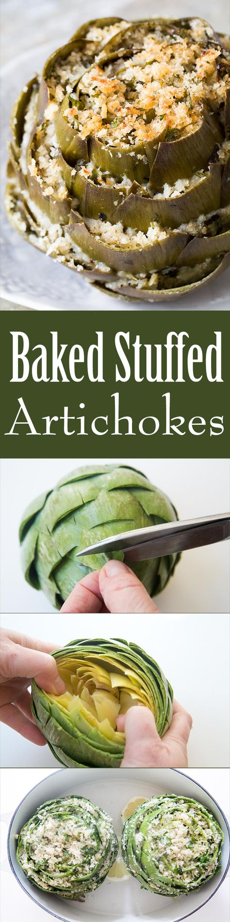 Stuffed artichokes are a perfect Easter artichoke appetizer! The ultimate stuffed artichoke recipe.