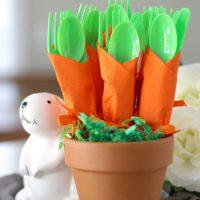 Carrot Napkin Utensils