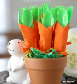 Carrot Napkin Utensils