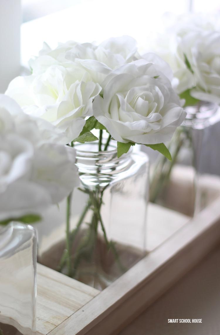 Smart School House office - white roses