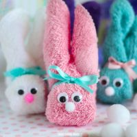 How to Make a Wash Cloth Bunny