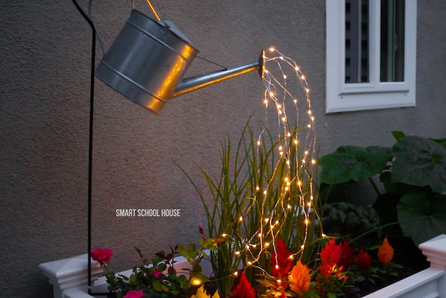 fairy garden watering can that glows
