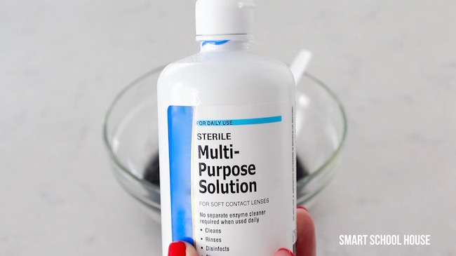 Slime with contact solution