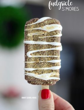 Fudgsicle S'mores - FROZEN S'MORES! Fudgsicles mixed with s'mores are such a tasty, quick, and easy cold treat for summer. Perfect for cooling off and curing your chocolate cravings this summer.