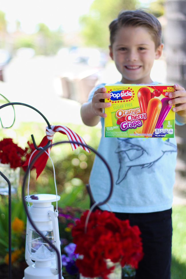 Popsicle® has always been the original summertime treat and we like to stock our garage freezer with all of our favorites like the classic Orange, Cherry, and Grape Popsicle pops in the iconic yellow box