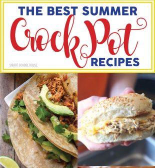 The BEST Summer Crock Pot Recipes! Crock pot corn on the cob, peach cobbler, pineapple chicken, chicken caesar sandwiches, and more! Summer slow cooker recipe ideas.