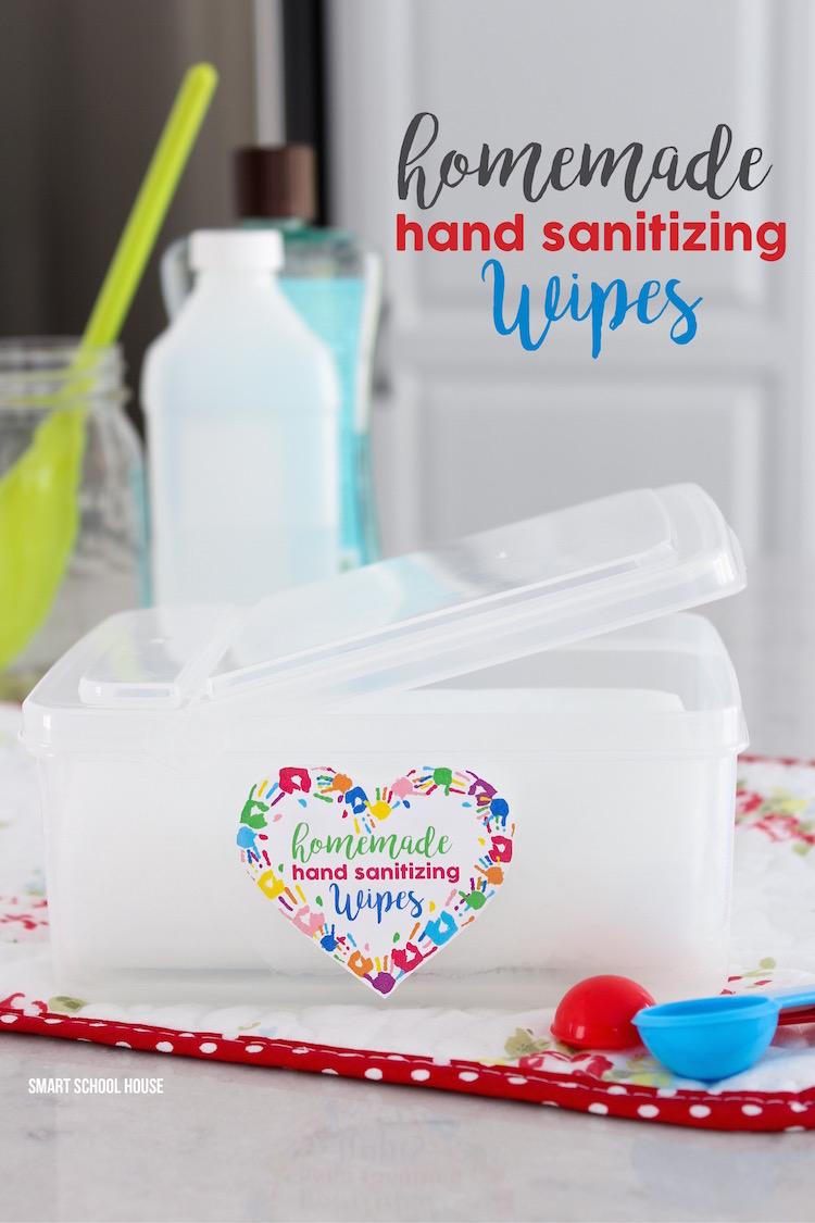 Homemade Hand Sanitizing Wipes