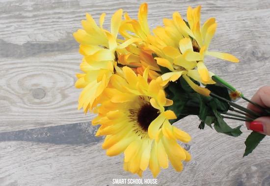 fake sunflowers