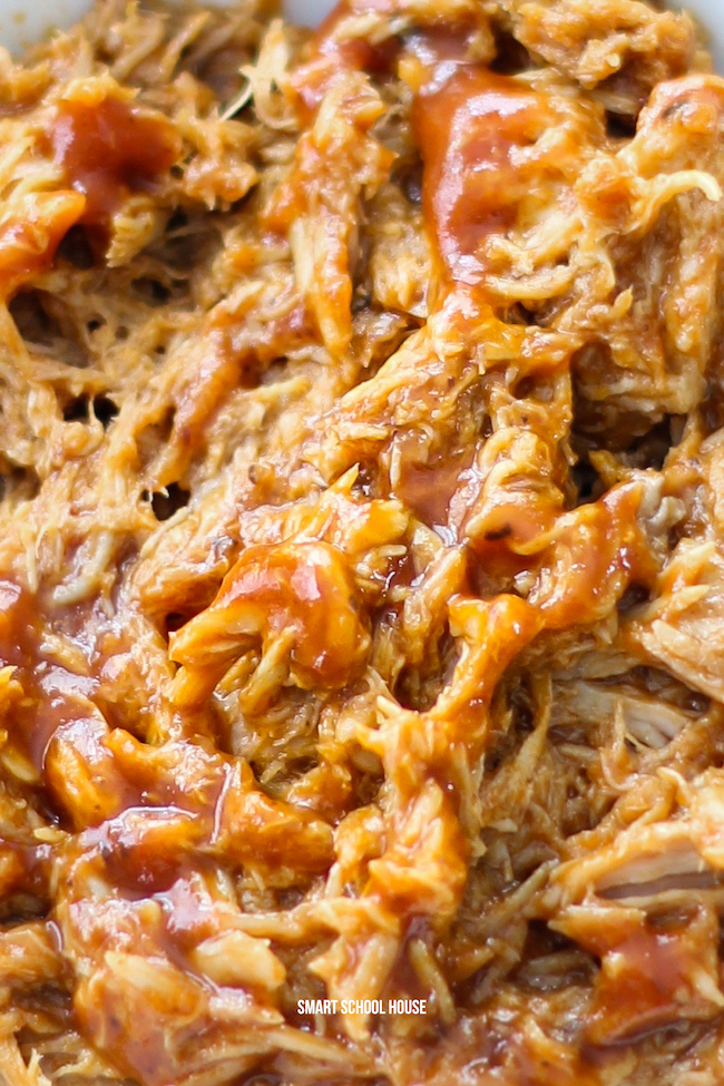 5 Ingredient White Wine Slow Cooker BBQ Pulled Pork - Easy recipe that is tender, delicious and everyone always loves it!