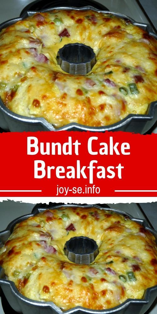 Bundt Cake Breakfast - Believe me you guys with gals won't believe how quickly this breakfast casserole bakes up! Plus, it looks like everyone's favorite cake…a Bundt