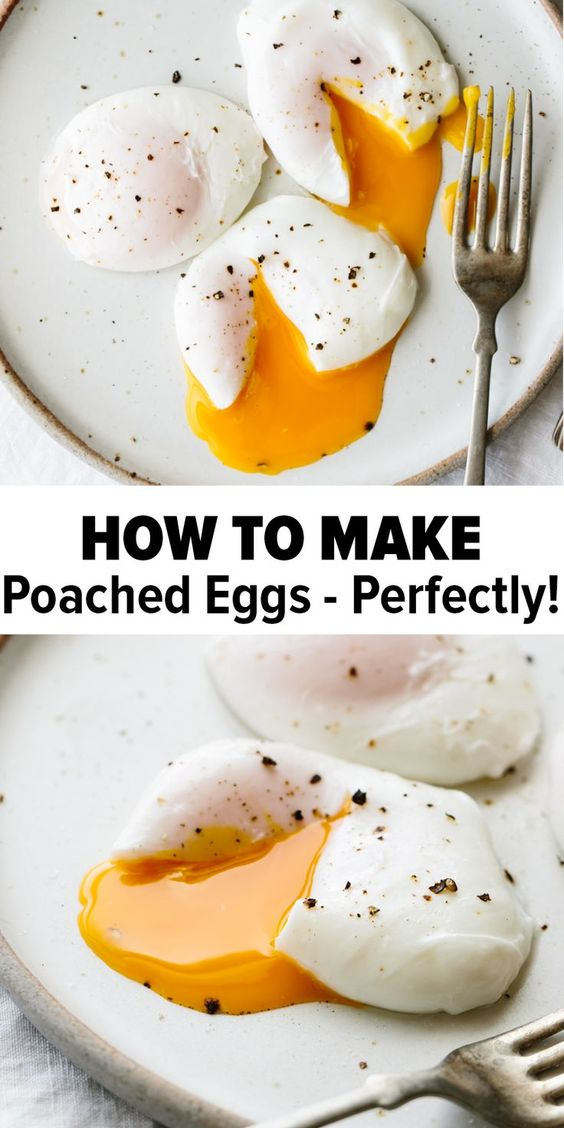 Poached eggs are a delicious, easy, healthy breakfast recipe. Watch my YouTube video above and learn how to poach an egg perfectly every time!