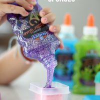 How to Make Glitter Glue Sponges