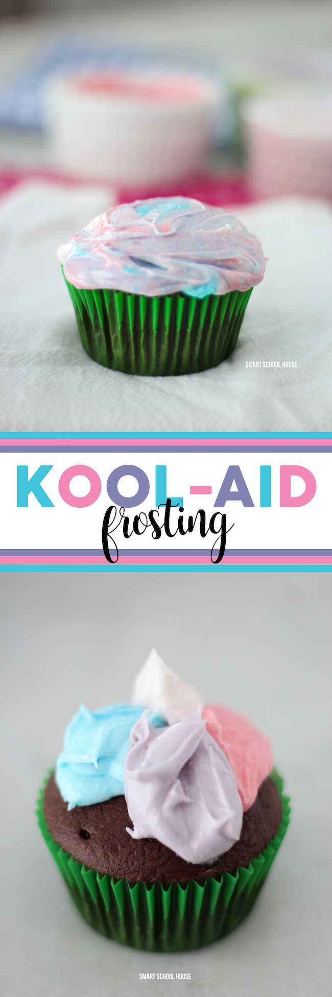 How to make sweet and creamy rainbow Kool Aid Frosting! This is BEST recipe for Kool Aid Frosting. Homemade with a Crisco frosting base. You can add any flavor of Kool Aid!