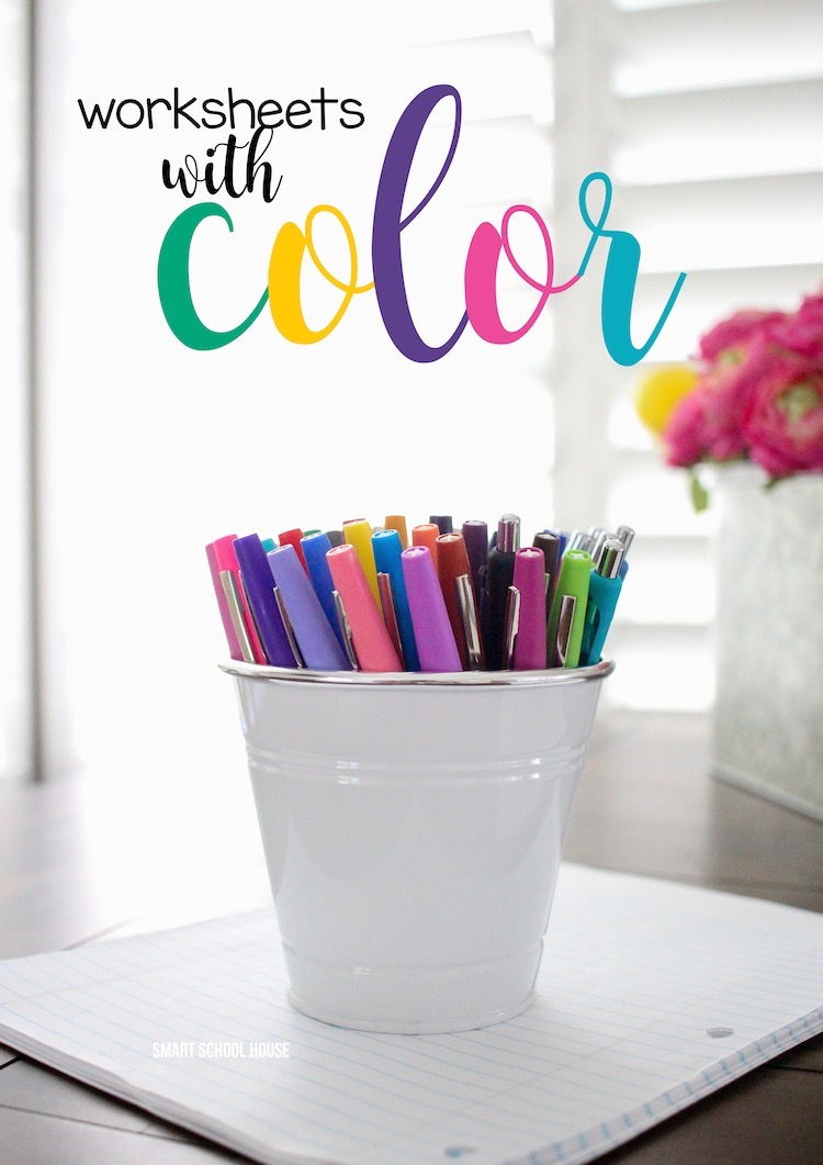Worksheets with Color. Did you know that color can help memory retention in learning? Color is a very important part of emotion, productivity, and learning.