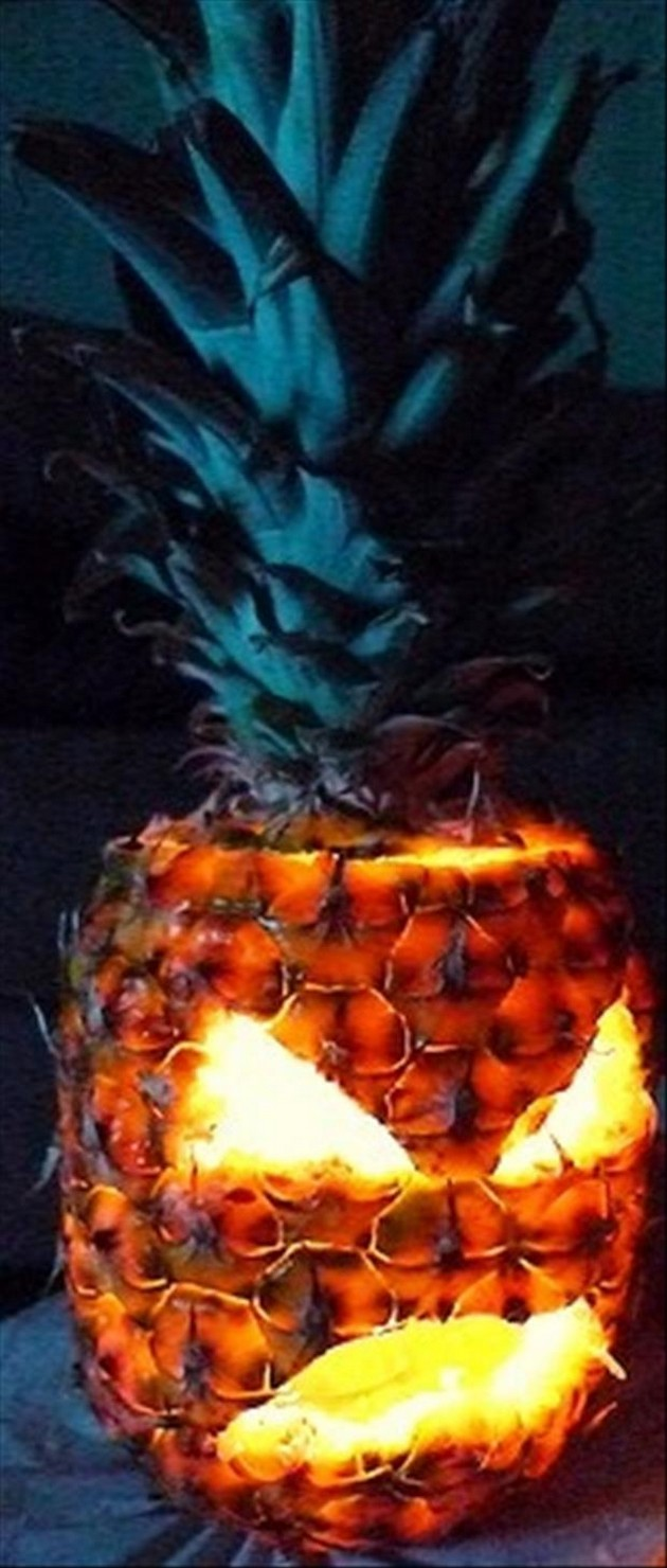 Live anywhere near a beach? Consider making a Pineapple Pumpkin!