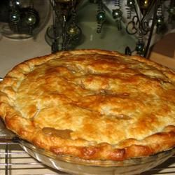 Leftover savory turkey pot pie with holiday leftovers made from scratch at home!