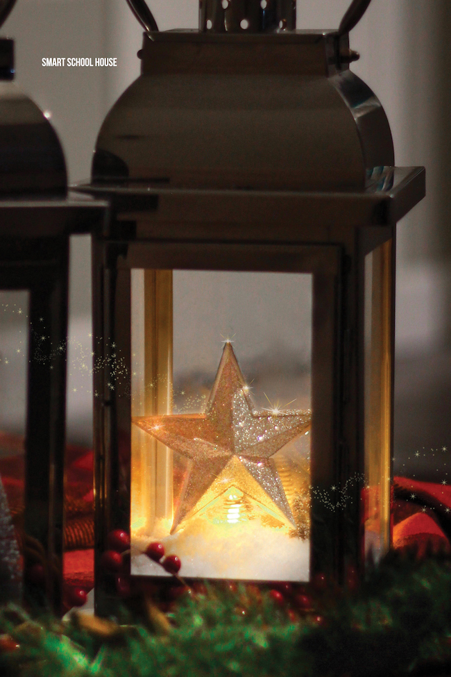 You might want to grab an old lantern for this breathtaking homemade Christmas decor idea! #DIYdecorations #Christmas #HolidayDecor #HomemadeChristmas #ChristmasTraditionIdeas