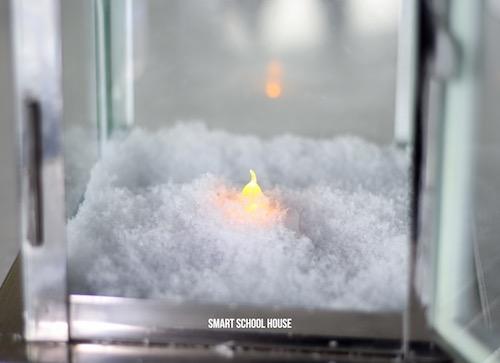 Snow globe lantern idea