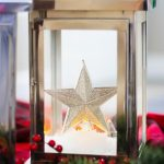 How to make a Lantern Snow Globe - a snowy, glowing, and beautiful Christmas decoration idea inside of a lantern showcasing a magical holiday scene