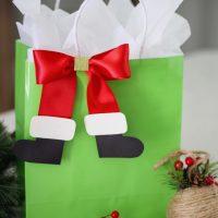 Santa Boot Bows
