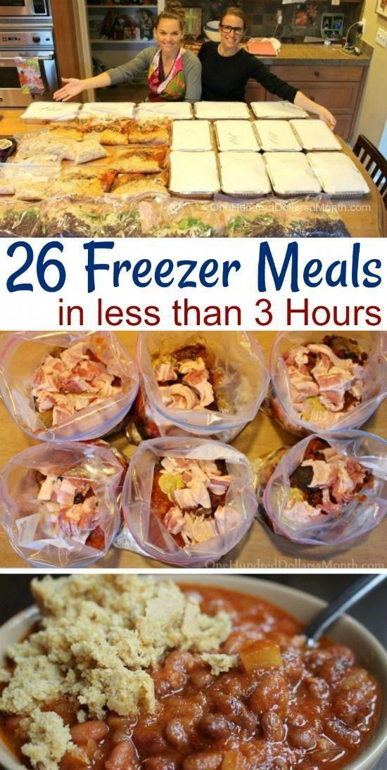 How to Make 26 Freezer Meals in 3 Hours