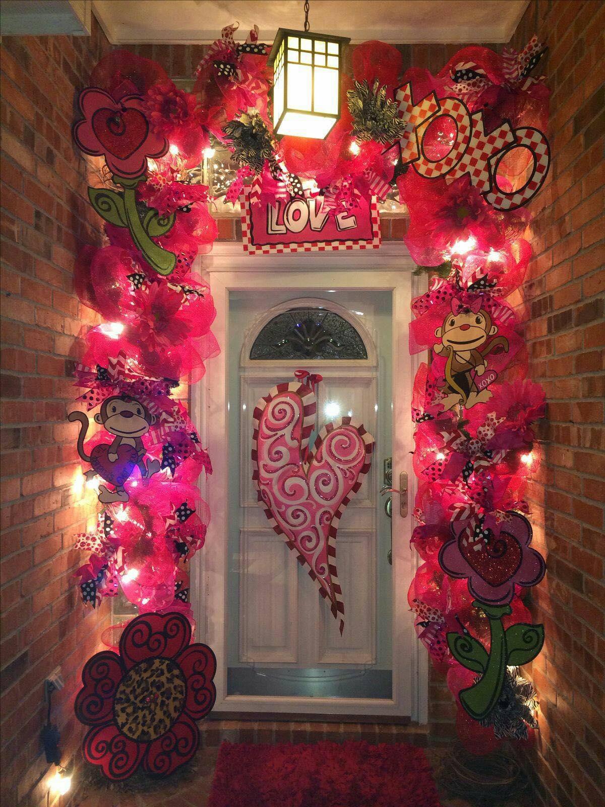 Valentine's Day Entryway Porch