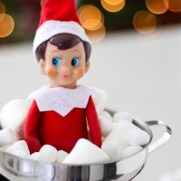 Elf on the Shelf in a Jar of Marshmallows
