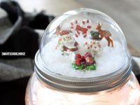 Mason Jar Lid Snow Globes