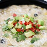 Creamy Chicken Enchilada Skillet Recipe. Quickly make a delicious chicken dinner in one pan! #skillet #enchiladas #enchiladarecipe #creamyenchiladas #onepandinner #quickdinner #easydinner
