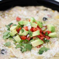 Creamy Chicken Enchilada Skillet