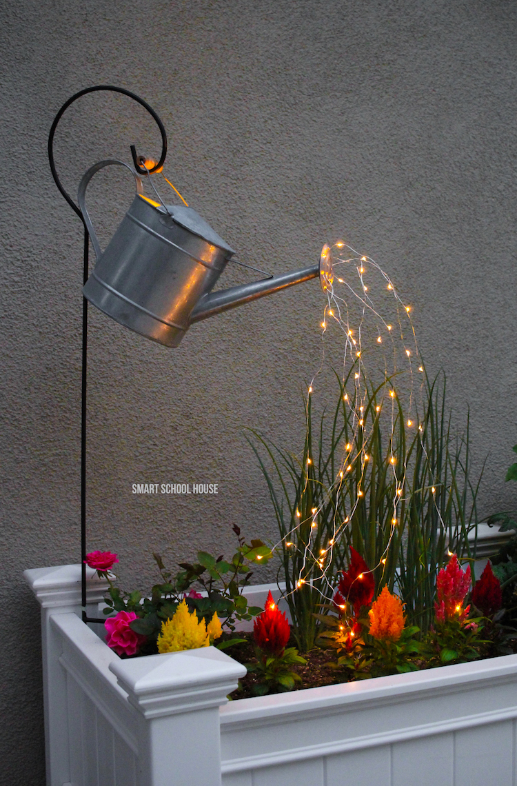 Watering Can with Fairy Lights