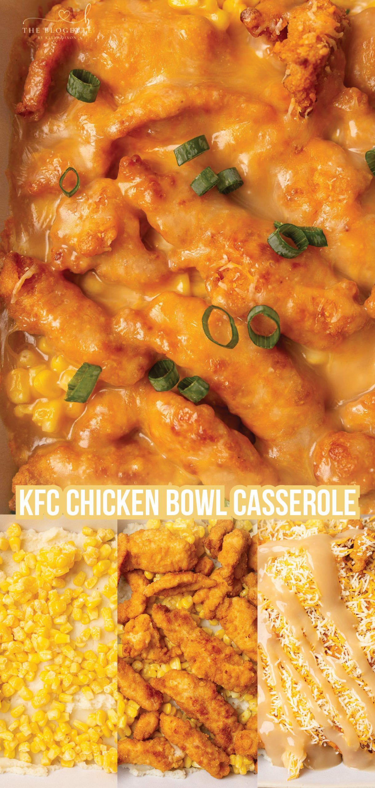 KFC Chicken Bowl Casserole This KFC Famous Bowl Casserole has become a huge hit in our house and is SUPER easy to make. It's a great recipe for kids to help with too! Tap the link above for the delicious recipe details:)
