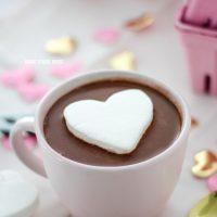 Heart Marshmallow in Hot Chocolate