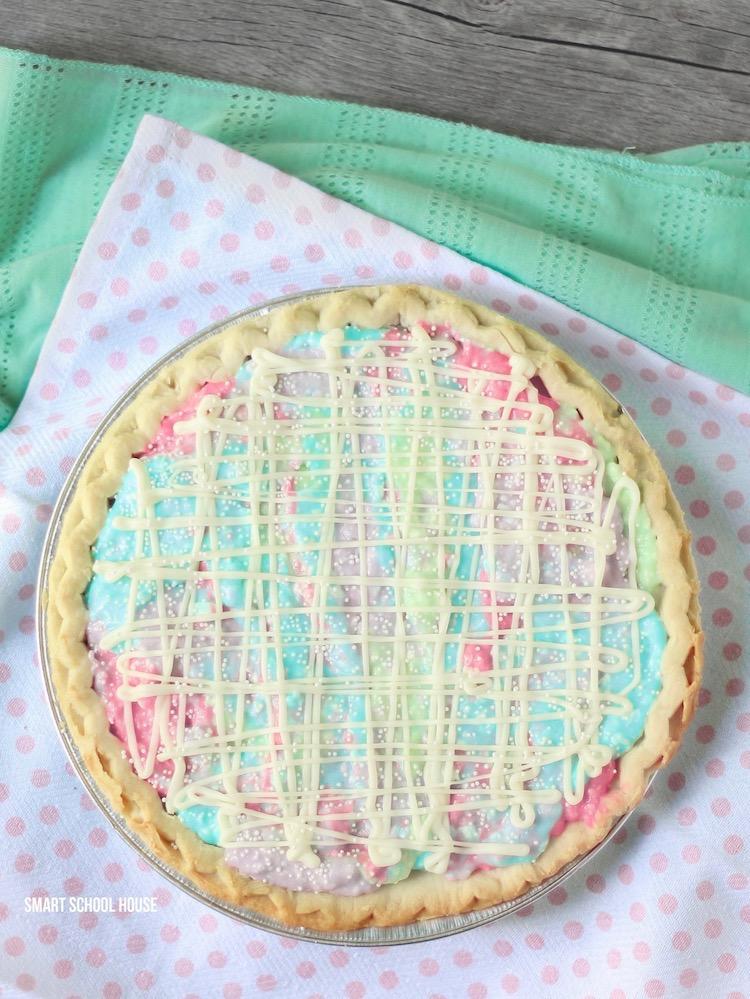 Jello Cheesecake - a delicious, creamy, Jello cheesecake recipe that can be low carb and sugar free! Jello Unicorn Pie / Jello Galaxy Pie with cream cheese.