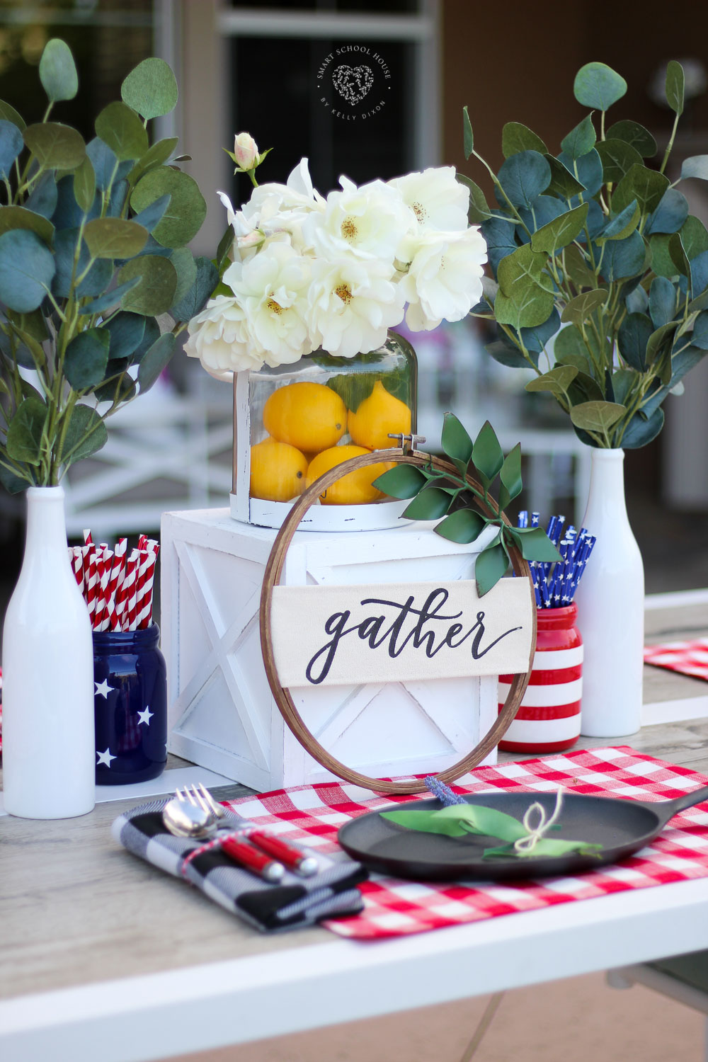 Superior Red, White, And Blue Table Decorations