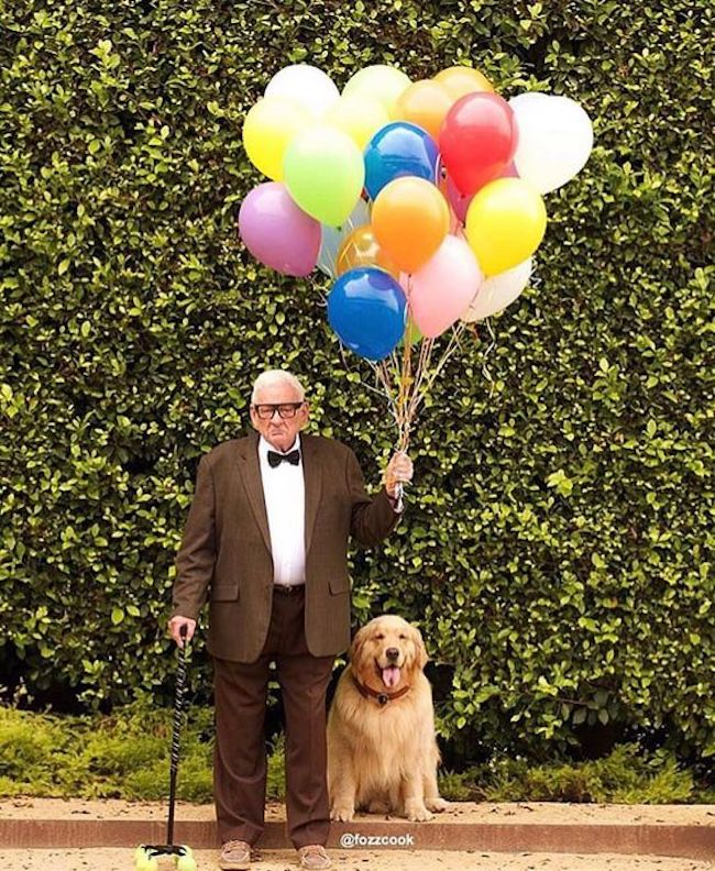 """I have just met you, and I love you!"" 🐶🎈It's UP, in real life! #Disney #UP #Halloween"