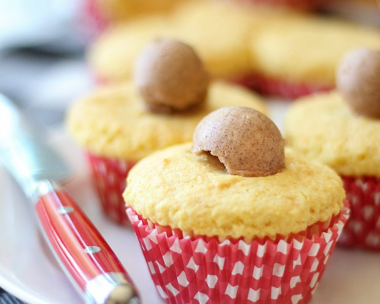 These sweet and fluffy cornbread cupcakes are made with both cake batter and cornbread mix then topped with cinnamon butter. Perfect for a summer for fall BBQ. Even on a cold winter evening, these are the coziest after-dinner treat. They go really well with any crock pot recipe your family loves. #cornbread #cupcakes