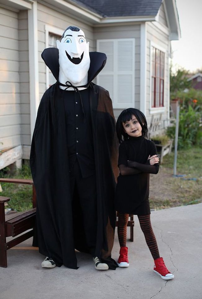 Dracula and Mavis costume from Hotel Transylvania #Disney #Halloween #CostumeIdeas