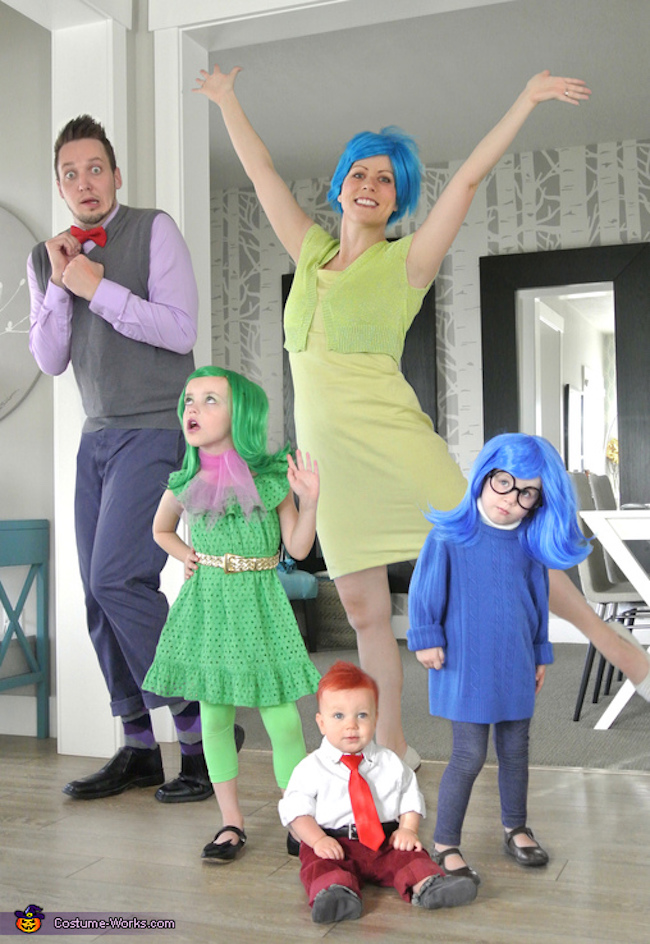 Inside Out Family Costume - All the emotions! LOLolol!