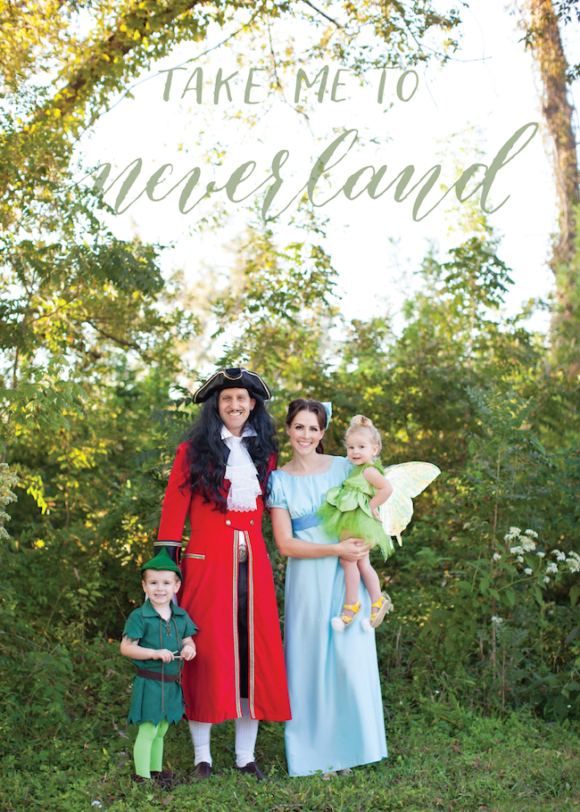 Neverland Family Costume - Peter, Tink, Hook, and Wendy!
