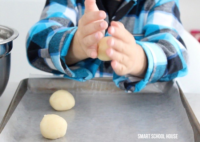 Making sugar cookies