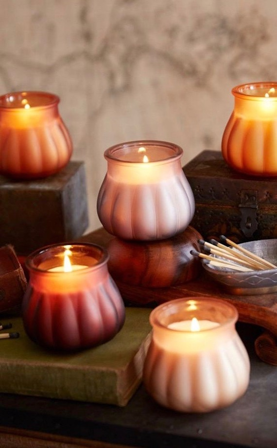 Pumpkin Shaped Candles! #falldecor #falltable #falldecorations #thanksgivingdecor
