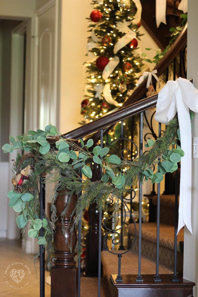 Eucalyptus Garland For Christmas Smart School House