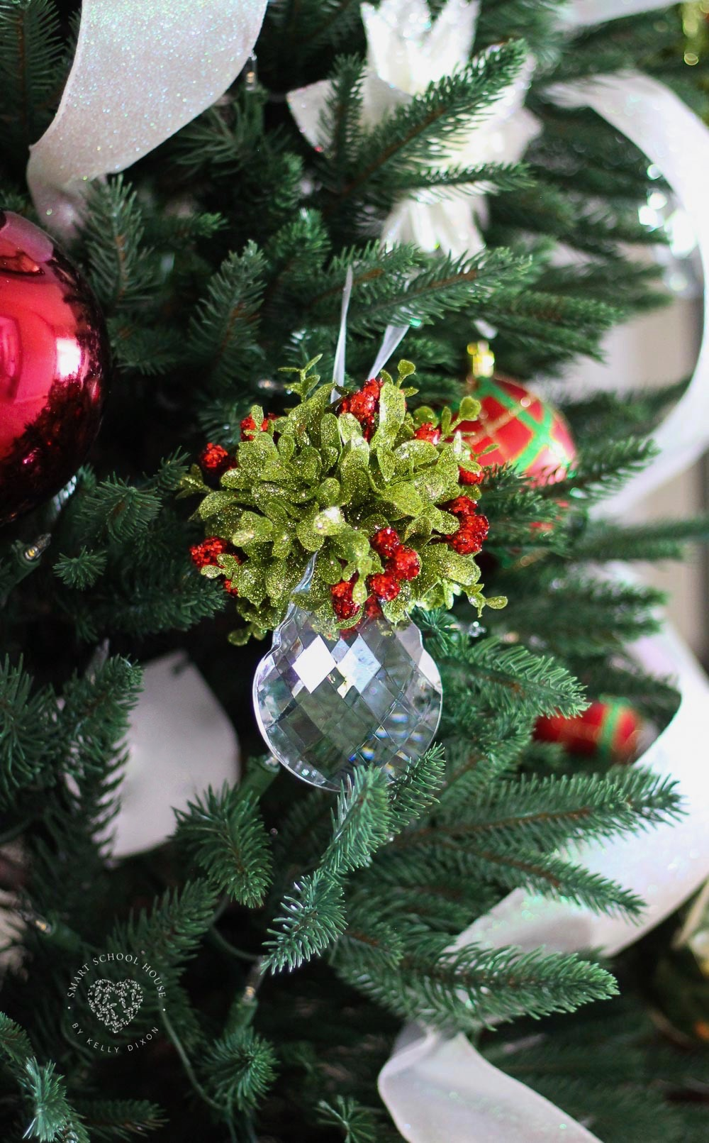 Crystal Mistletoe Ornament