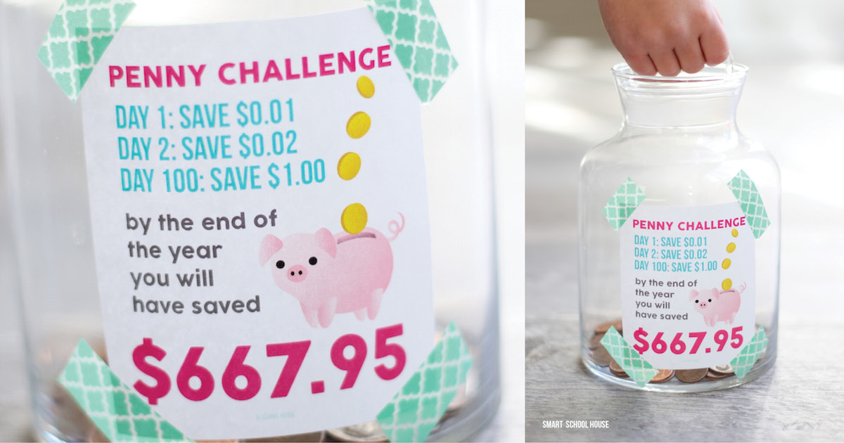 The Penny Challenge Save Hundreds Of Dollars Using A Penny